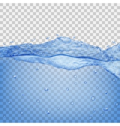 Transparent water wave vector