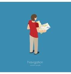 Travel guide person vector