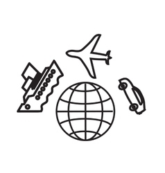 Travelling around world holiday vacation vector