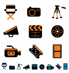 Video and photo icon vector