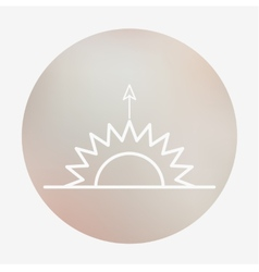 Weather flat style icon vector