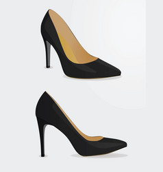 women black shoes vector image