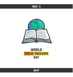 world press freedom day may 3 vector image
