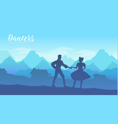 young couple in traditional vector image