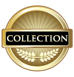 Collection Gold Vintage Label vector image