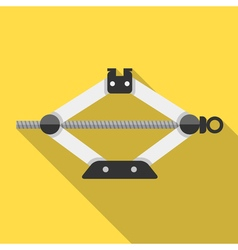 Colorful car screw lift jack icon in modern flat vector image vector image
