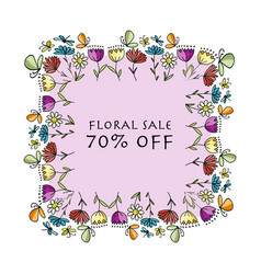 floral banner for your design vector image vector image