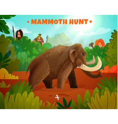 mammoth hunt vector image vector image