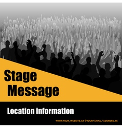 stage message flyer vector image