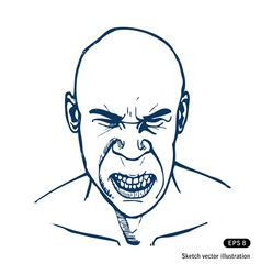 Angry man vector image vector image