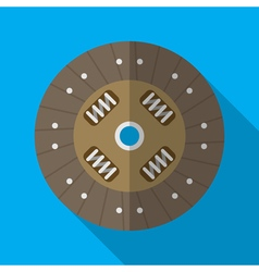Colorful car clutch plate disk icon in modern flat vector image