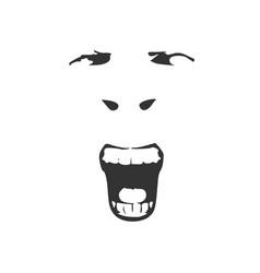 demon or monster screaming vector image