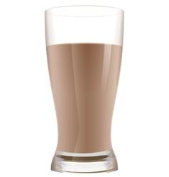 Glass of cocoa with milk Chocolate milkshake vector image