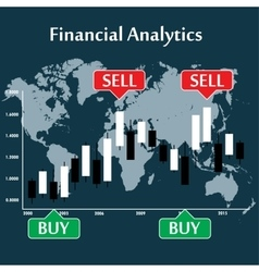 Japanese candlestick chart showing trend vector image