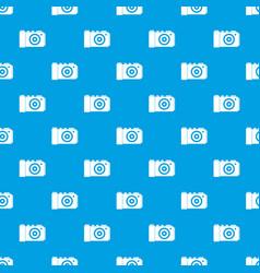 photo camera pattern seamless blue vector image