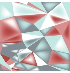 poly triangle 3d seamless pattern vector image vector image