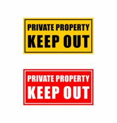 private property signage vector image