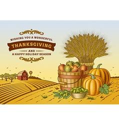 Vintage Thanksgiving Landscape vector image vector image
