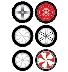 wheel v vector image vector image