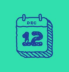Calendar web icon office organizer business vector