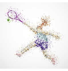 Abstract tennis player2 vector
