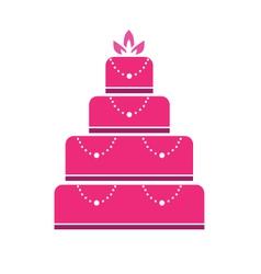Cake wedding vector image vector image