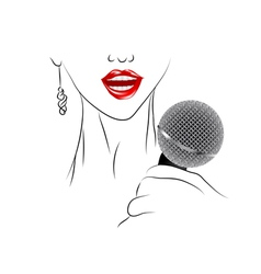 singing vector image