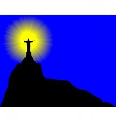 statue of Jesus Christ vector image vector image
