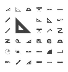 33 ruler icons vector