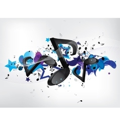 Abstract music bckground with notes vector image