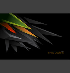 Abstract spike colors vector