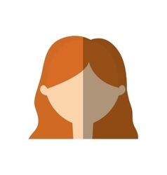 avatar woman face young person shadow vector image
