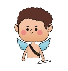 baby cupid icon vector image