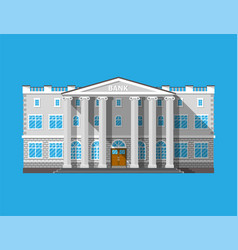 bank building financial house isolated on blue vector image
