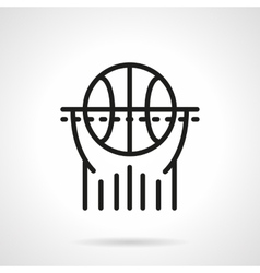 Basketball black line icon vector image