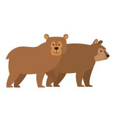 Bears cartoon animal vector