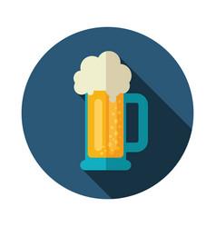 Beer mug icon summer vacation vector