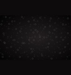 black abstract background with grey rings vector image