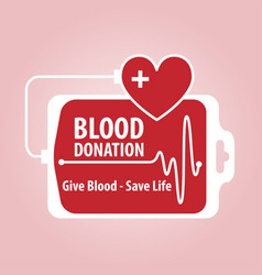 Blood donation banner vector
