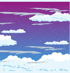 blue sky with cloud background summer beauty vector image