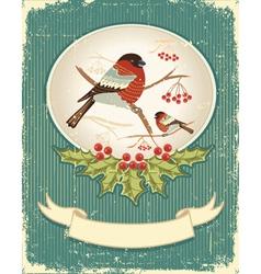 Bullfinches in winter vector