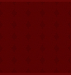 Cable knit dark red pattern vector