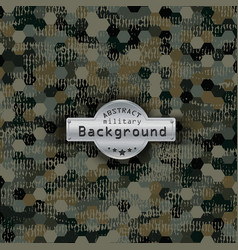 Camouflage military hexagon pattern background vector image