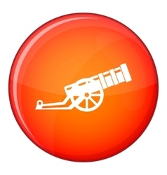 Cannon icon flat style vector