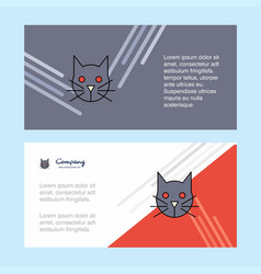 cat abstract corporate business banner template vector image