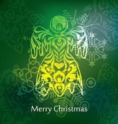 Christmas postcard design vector