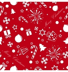 Christmas seamless background red vector image