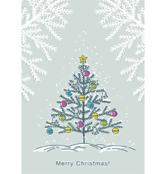 Christmas trees on color crumple background vector