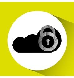 cloud security design vector image