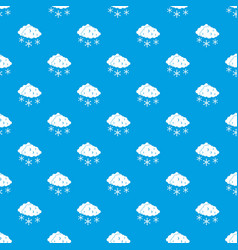 clouds and snow pattern seamless blue vector image